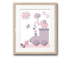Pink nursery wall decor baby girl room wall art by PinkRockBabies