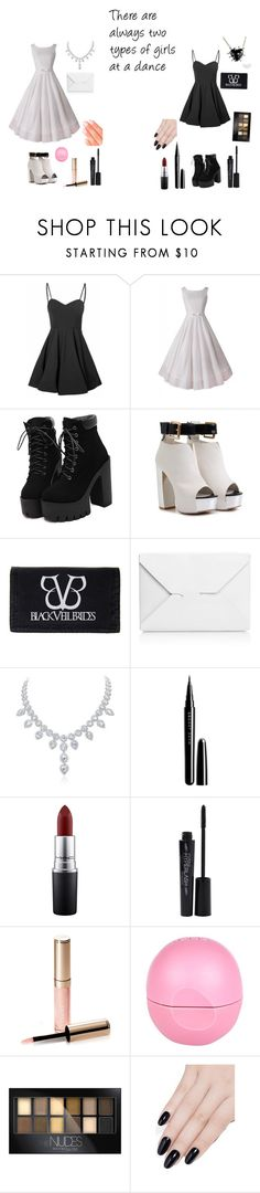 """""""two types of girls"""" by corpseparty12345 ❤ liked on Polyvore featuring Glamorous, J.W. Anderson, Marc Jacobs, MAC Cosmetics, Smashbox, By Terry, Eos, Maybelline, ncLA and Elegant Touch"""