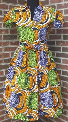 Maya - Ankara Full Midi Dress
