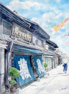 水彩画 美しい日本 | 関東編 - Shibuya Tatsuo