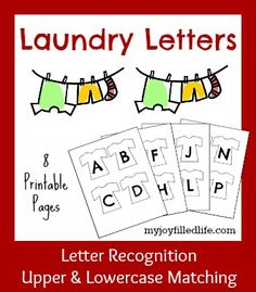 Laundry Letters {a letter recognition activity} - My Joy-Filled LIfe