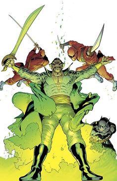 Ra's Al Ghul on Batman & Robin #23.3 | All 52 DC Villain Month Covers