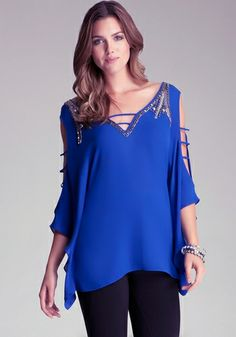 Cold Shoulder Sleeve Tunic
