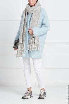 Купить Шерстяное пальто - однотонный, пальто женское, пальто, пальто из шерсти, пальто демисезонное
