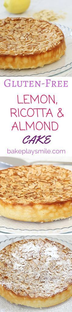 This is my favourite Gluten-Free Lemon, Ricotta & Almond Cake! It's so quick and. - This is my favourite Gluten-Free Lemon, Ricotta & Almond Cake! It's so quick and simple! Gluten Free Sweets, Gluten Free Cakes, Gluten Free Cooking, Gluten Free Recipes, Köstliche Desserts, Delicious Desserts, Dessert Recipes, Almond Recipes, Baking Recipes
