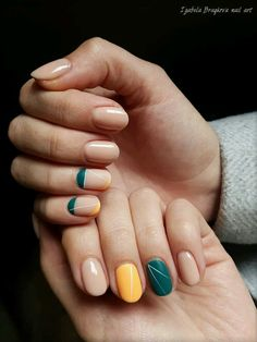 Epic nail color combo #nailartdesigns #nailart #nailswag
