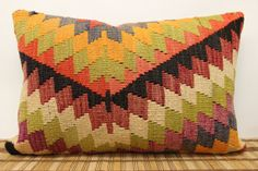 Lumbar kilim pillow 16 x 24  Throw Pillow by kilimwarehouse, $69.00