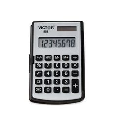 Victor? 908 - 908 Handheld Calculator, Eight-Digit LCD
