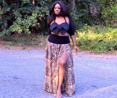 Plus Size Sheer Maxi Skirt  Multiple Prints by SpoiledDiva on Etsy