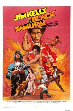 Black Samurai (1977, USA) - design print poster posters for horror, sci-fi, exploitation, cult, trash, adult and B-movies Illustration Illustrations Patterns Pattern
