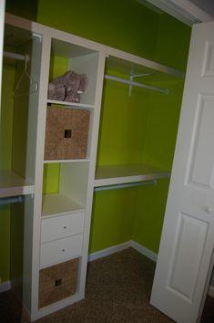 David + Jen = Max: Max's Custom Lime Green Nursery Closet