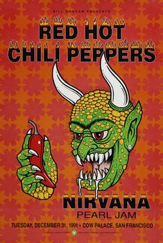 Red Hot Chili Peppers with Nirvana and Pearl Jam
