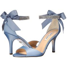 Nina Vinnie High Heels ($99) ❤ liked on Polyvore featuring shoes, sandals, ankle wrap shoes, nina sandals, synthetic shoes, sparkly high heel shoes und ankle strap high heel sandals