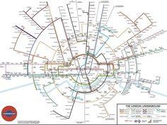 A circular tube map.   17 London Underground Maps You Never Knew You Needed  #london #underground #map