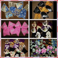 Cheer bows from blingonthebows.com
