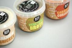 Adorable soup labels for Big Pot Co.- The Dieline.