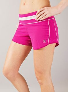 """cute """"roga"""" running shorts by Oiselle (Seattle, woot!). I like the slightly retro feeling in the waistband, and the leg cut looks flattering."""