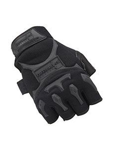 FREE SOLDIER Men Outdoor Tactical Gloves Military Hiking Climbing Half Finger Gloves Black XLarge *** Find out more about the great product at the image link.Note:It is affiliate link to Amazon.