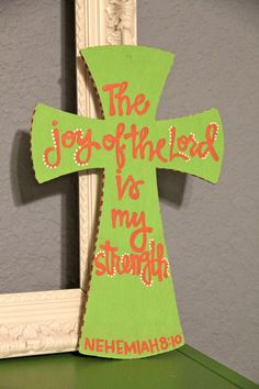 Hand Painted Wooden Cross. $23.00, via Etsy.