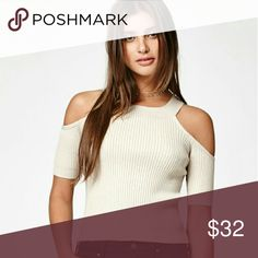 Kendall & Kylie Cold Shoulder Sweater Brand new endall & KylieFitted Cold Shoulder Sweater PacSun Tops Crop Tops