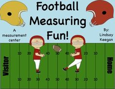 Free football themed measuring activity using nonstandard units of measure.