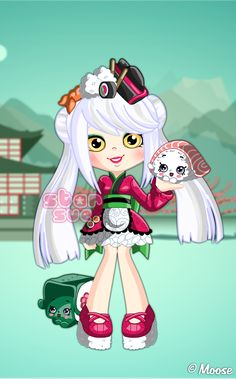 Shopkins Shoppies Sara Sushi Dress Up Game : http://www.starsue.net/game/Shopkins-Shoppies-Sara-Sushi.html Have Fun! ♥-♥