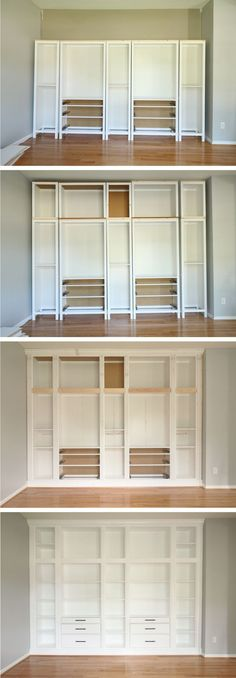 ikea hack diy built in bookcase with hemnes furniture studio 36 interiors - PIPicStats Billy Ikea, Diy Casa, Built In Bookcase, Ikea Hack Bookcase, Bookshelves Ikea, Bookshelf Ideas, Build In Bookshelves, Living Room With Bookshelves, Diy Built In Shelves
