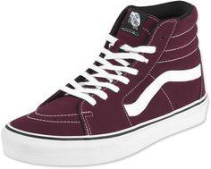 Vans Sk8 Hi schoenen bordeaux rood wit