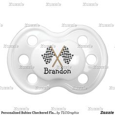 Personalized Babies Checkered Flag Racing Pacifier