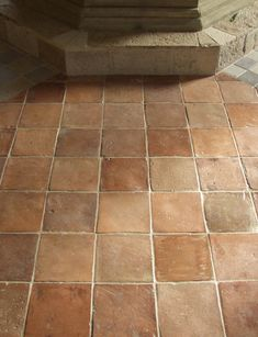 Nice colors for the floor! - Genuine antique terra cotta flooring tiles. No two floors are identical, the variation of hue, shape and color makes antique terra cotta a u...