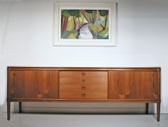 £1100 length 225cm - height 78cm - depth 48cm  Bramin H. W. Klein teak sideboard - Danish sideboard London