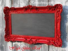 I could do this... spray paint a frame, paint the interior with chalkboard paint