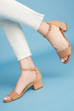 Slide View: 1: Sam Edelman Scalloped Block Heels