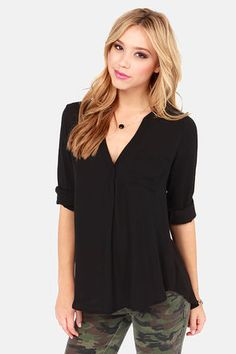 So Much in Love Black Top at Lulus.com!