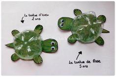 #Recycling #Basteln, Schildkröten aus PET Flasche by lesley
