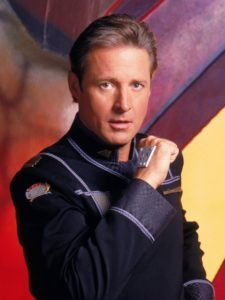 Bruce Boxleitner as Captain John J. Sheridan, Commanding Officer, Earth Alliance Space Station Babylon secession from the Earth Alliance. Bruce Boxleitner, Sci Fi Tv Series, Sci Fi Tv Shows, Christopher Eccleston, Doctor Who, Science Fiction, Babylon 5, And So It Begins, Star Wars