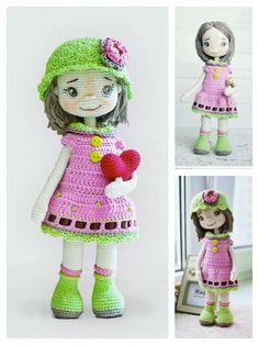 Crochet Geek, All Free Crochet, Crochet For Kids, Crochet Toys, Crochet Dolls Free Patterns, Crochet Doll Pattern, Crochet Dinosaur, Crochet Baby Boots, Amigurumi Doll