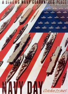 Poster for US Navy Day, Oct. 27, 1945