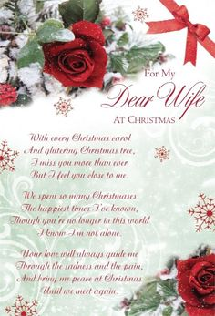 My Dear Wife At Christmas miss you family quotes heaven in memory christmas christmas quotes christmas quote