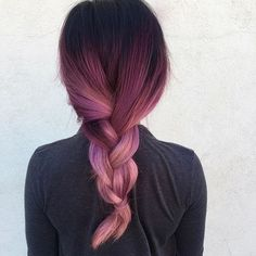 Hair black and red ombre hair Hair Styles Online: The Power You Always Wanted Article Body: Looking Black Hair Ombre, Ombre Hair Color, Hair Colors, Black To Purple Ombre, Pink Purple Hair, Violet Hair, Light Purple, Color Del Pelo, Coiffure Hair