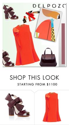 """Orange"" by fl4u ❤ liked on Polyvore featuring Delpozo"