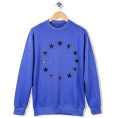 Etoile Crew Sweatshirt Europe Etudes Blue par Etudes