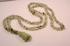 Prehnite Mala Beads by QuietMind on Etsy, $40.00