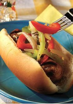 Grilled Hot Italian Sausage and Peppers – Preheat the grill, toss the peppers and onions with dressing, and get ready to wow 'em with the best grilled Italian sausage subs they've ever had!