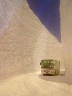 Over 17 meters of snowfall in Hokkaido, Japan.