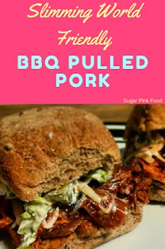 Slow cooker slimming world friendly BBQ Pulled Pork recipe. Pulled Pork Slimming World, Slimming World Pork Recipes, Slimming World Sausages, Slimming World Sweets, Slow Cooker Slimming World, Slimming World Fakeaway, Slimming World Dinners, Bbq Pulled Pork Recipe, Slow Cooked Pulled Pork