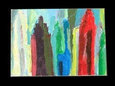 City OUTSIDER ART FOLK  ABSTRACT ART BRUT PAINTING by RiMBAUD  #OutsiderArt