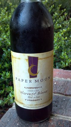 Harvest Blend from Paper Moon Winery in Vermilion,  Ohio-Great wine & Food!  Love the Barrel Tables also!