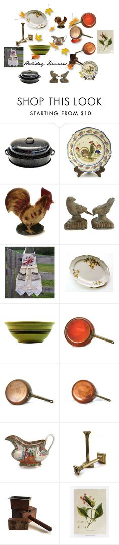 """Vintage Holiday Dinners"" by weelambievintage on Polyvore featuring interior, interiors, interior design, home, home decor, interior decorating, kitchen, vintage, etsy and holiday"