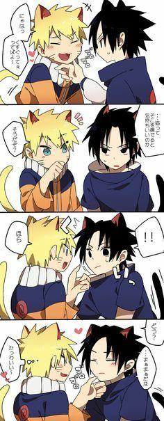 I Found These Cute SasuNaru Comics Online! Naruto Vs Sasuke, Anime Naruto, Naruto Chibi, Kakashi Sensei, Naruto Comic, Naruto Cute, Naruto Funny, Naruto Shippuden Anime, Otaku Anime